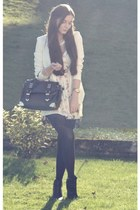 white Zara dress - white H&M blazer - black Aldo bag
