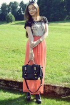 carrot orange Primark skirt - black Mango shirt - black Aldo bag