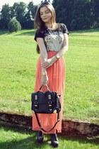 carrot orange Primark skirt - black Mango shirt - black Aldo bag