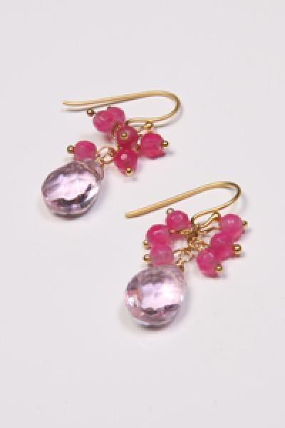 pink Send the Trend earrings