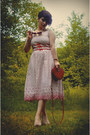 White-bettie-page-clothing-dress-red-primark-bag