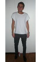 t-shirt - pants - Zara shoes