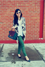 White-urban-outfitters-coat-teal-celine-bag