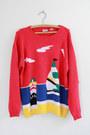 Red-beach-scene-vintage-sweater