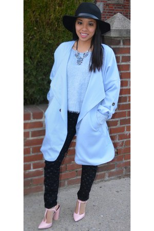 sky blue Sheinsidecom jacket - bubble gum Zara shoes