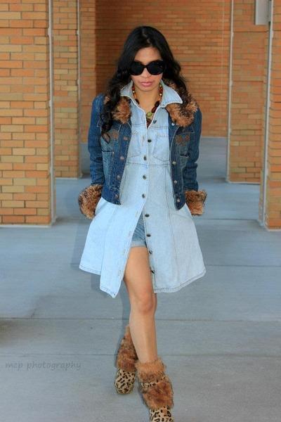 leopard boots - H&M blazer - rue21 accessories