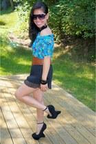 H&M shorts - makemechic wedges - rue21 accessories