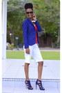 Blue-h-m-blazer-white-bermuda-shorts-ny-co-shorts