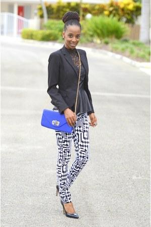 H&M top - black blazer H&M blazer