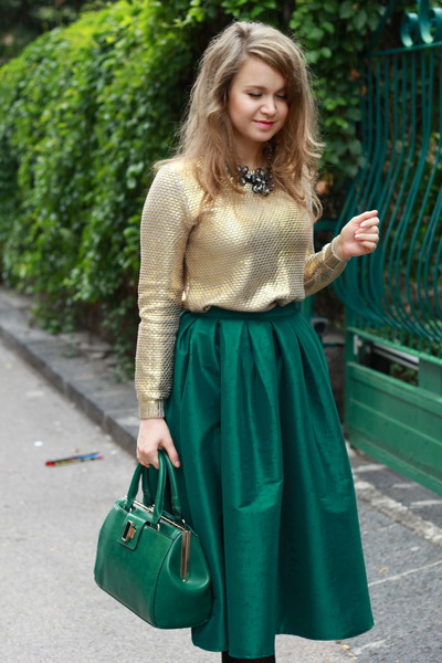 Dark Green Choies Skirts Quot Green Midi Skirt Quot By