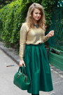 Dark-green-choies-skirt