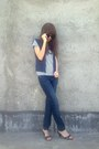 Aldo-sunglasses-giordano-t-shirt-vintage-vest-h-m-jeans-vintage-heels