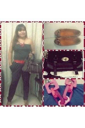 jumpsuit H&M romper - alexa bag Mulberry bag - zoe ann westlink heels