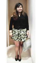 korean brand blouse - peek-a-boo tote Fendi bag - marlene Roger Vivier heels