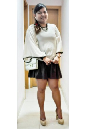 heather gray Topshop skirt - gold gold from my kiddos party giveaway bag