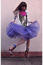 shalafi ornanza studio blouse - MAGIC shoes - Zara jacket - danza skirt