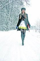 white shalafi ornanza studio skirt - black shalafi ornanza studio blouse