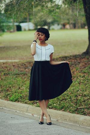 Zara shirt - asos skirt - Zara heels