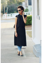 t by alexander wang dress - madewell jeans - ray-ban sunglasses