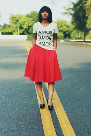 Zara skirt - JCrew t-shirt
