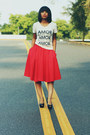 Zara skirt - JCrew t-shirt