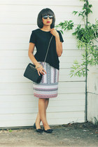J Crew skirt - J Crew top - tory burch flats