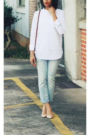 Gap jeans - J Crew top - Zara heels