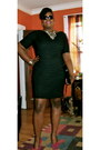 Black-tj-maxx-dress-magenta-poetic-license-heels
