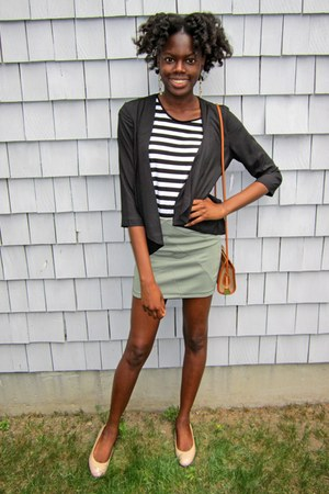 olive green bodycon urban behavior skirt - black sears blazer