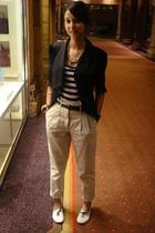 black Mr Price jacket - beige Woolworths pants - white Mr Price shoes - black Ve