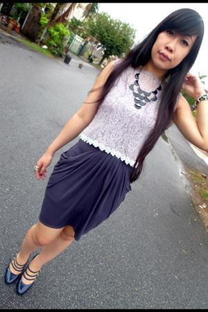 Vintage frm mum blouse - Topshop skirt - c&k shoes - Forever21 accessories