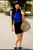 Topshop blouse - bugis skirt - Charles & Keith purse - Charles & Keith shoes