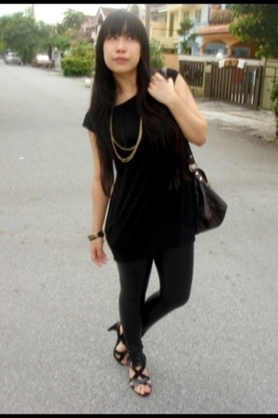 Forever21 blouse - Forever21 leggings - Forever21 accessories - Charles & Keith