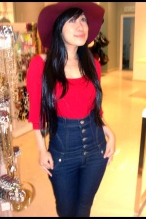 Forever21 hat - Mango blouse - MonCheri jeans