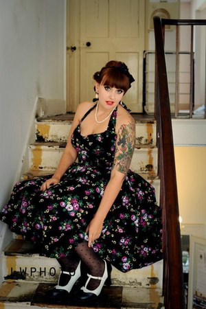 Hell Bunny May Day 50s Dress dress - Tuk Shoes Mary Janes heels