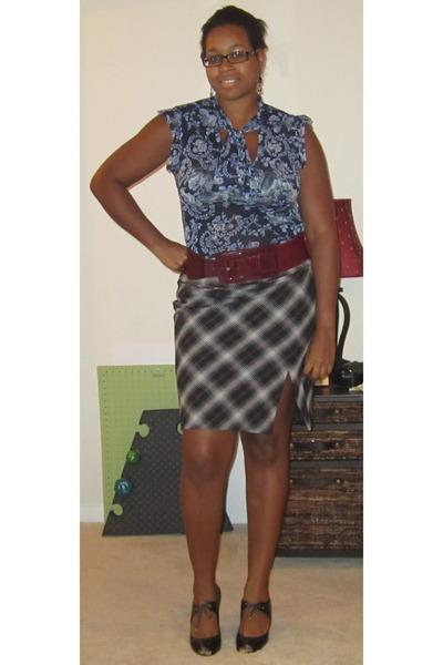 Plaid Skirt Express Skirts Floral Print New York Company Blouses
