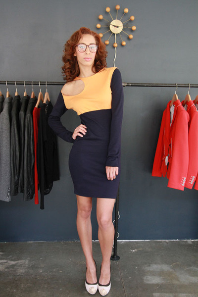 navy Shavonne DeAnn dress - carrot orange Shavonne DeAnn dress