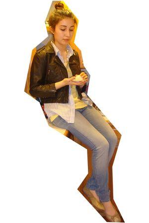 lulu & veronica jacket - Paige jeans - vintage shoes - BP necklace - bitten blou
