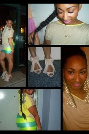 heels - worn backwards Gap shirt - Mus By Mali Ro skirt