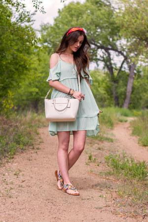orange Kristin Perry hair accessory - aquamarine others follow dress