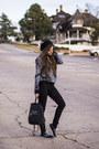Black-pacsun-jeans-black-beanie-charlotte-russe-hat