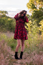 Black-jeffrey-campbell-boots-ruby-red-chicwish-dress