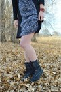 Black-distressed-roxy-boots-black-patterned-earthbound-trading-co-dress