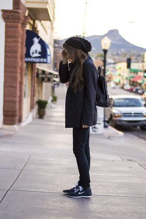 black PacSun jeans - black beanie Charlotte Russe hat