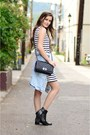 Black-grey-city-boots-white-striped-zara-dress-light-blue-denim-zara-jacket