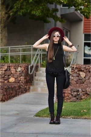 black bullhead denim PacSun jeans - crimson Target boots