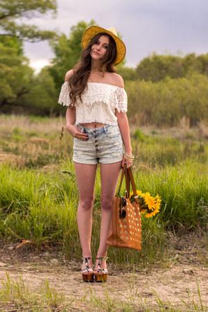 camel Charlotte Russe hat - brown Charlotte Russe bag