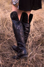 Black-over-the-knee-not-rated-footwear-boots-black-sequin-ami-clubwear-dress