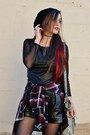 Black-beanie-charlotte-russe-hat-crimson-plaid-charlotte-russe-shirt