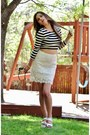 White-lace-sugarlips-skirt-black-striped-chloe-k-top